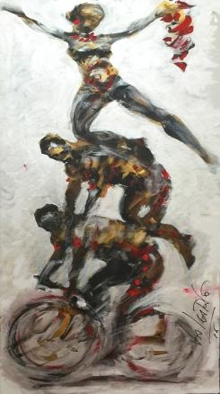 Valcarlo Drensi, Inno alla Gioia, 50x100cm, acrilico su tela, 2016